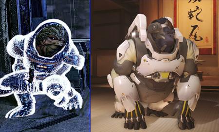 Overwatch Winston or Mass Effect Krogan