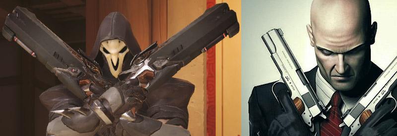 Pverwatch reaper Hitman